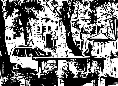 city landscape made by ink on paper stock image and royalty free Lexmark Ink Cartridges Sale made by ink on paper