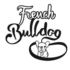 French Bulldog Hand drawn Lettering Logo