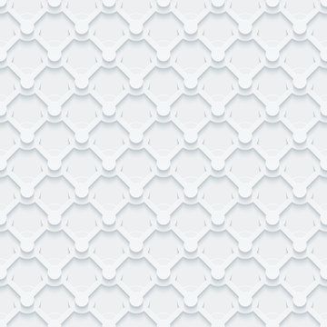 Light gray seamless pattern. Retro armor plate background.