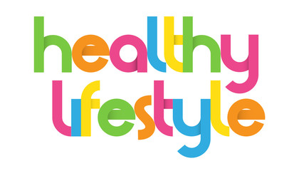 HEALTHY LIFESTYLE Vector Letters
