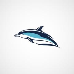 dolphin logo sign sport emblem on white background