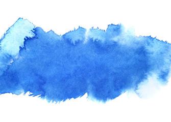 Blue watercolour stripe