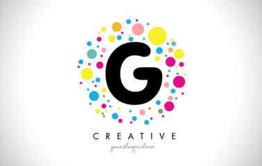 G Bubble Dots Letter Logo Design with Creative Colorful Bubbles.