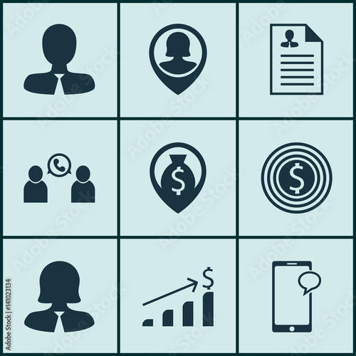 u0026quot set of 9 hr icons  includes curriculum vitae  money navigation  phone conference and other