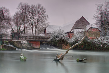 Sherfield On Loddon after Snowfall