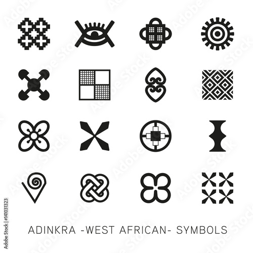 Set Of Akan And Adinkra West African Symbols Vector Stock Image