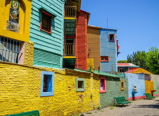 Colorful houses in Caminito, Buenos Aires Papier Peint