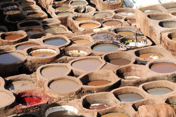 Africa - Marocco - Fez - concerie di pelle