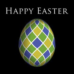 greeting card - colored Easter egg and text