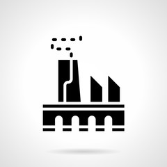 Power industry glyph style vector icon