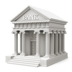 Bank building in classical style - perspective view