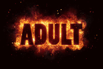 adult only sign text alert allowed permission hot fire flames