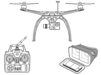Quadcopter – drone with equipment