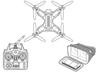 Drone with VR gear
