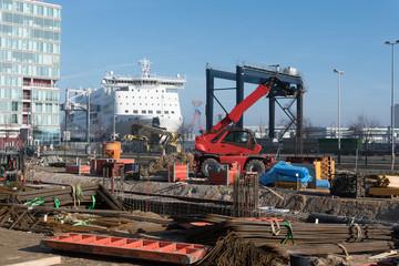 Baustelle im Hafen