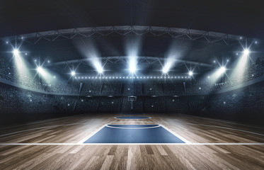 Basketball arena,3d rendering