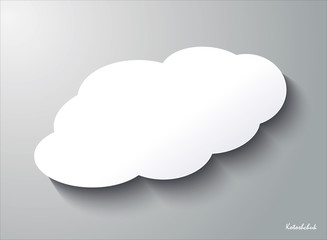 Cloud vector icon set white color on grey background. Sky flat illustration collection for web, art and app design. Weather