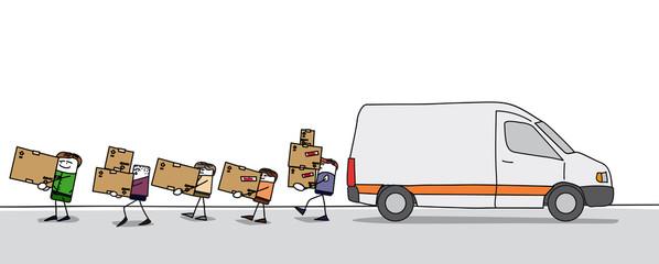 Déménagement et transport des cartons