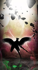 Fighting for the Earth guardian angel silhouette art photo manipulation