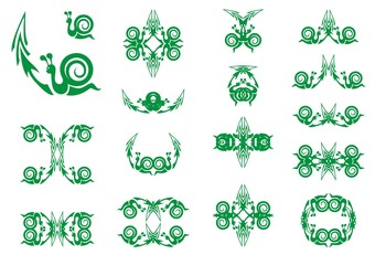 Green snail symbols with arrow. Slow business growth financial symbols as a snail with an arrow for the concept of sluggish profit gains or the economy slowly recovering