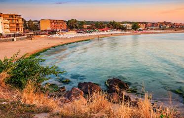 sunrise at the beach of Sozopol