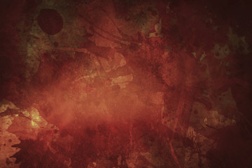 red bloody grungy background or texture with splatters