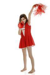 Elementary Girl Cheering
