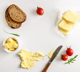 Butter spread or margarine background