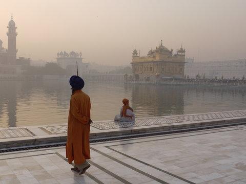 Guard at Golden Temple Amritsar