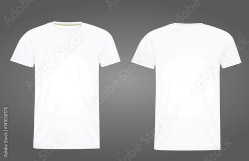 T shirt template vector\