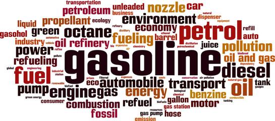 Gasoline word cloud