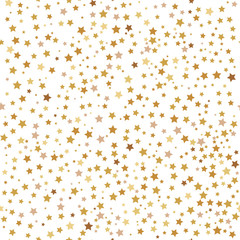 Gold Stars. Seamless patterns