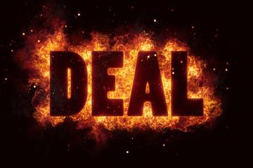 deal fire flames burn text explosion explode