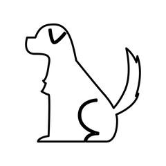 cute dog mascot silhouette icon vector illustration design