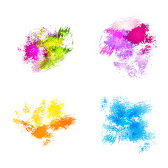 Abstract vector watercolor spots