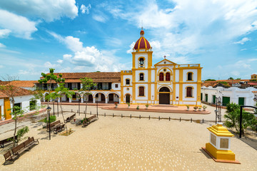 Fototapete - Plaza in Mompox from Above