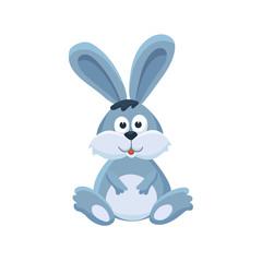 Adorable bunny illustration. Cute cartoon animal isolated on white background.