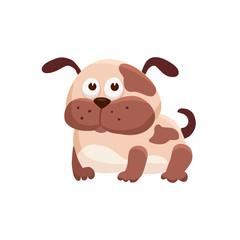 Adorable dog illustration. Cute cartoon animal isolated on white background.