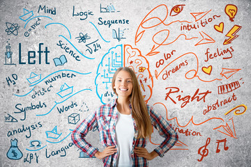 Creative and analytical thinking concept Wall mural