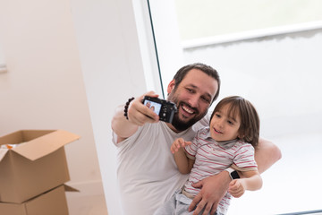 selfie father and son