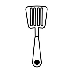 spatula kitchen cutlery isolated icon vector illustration design