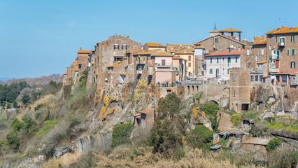 Scenic sight in Blera, medieval village in Viterbo Province, Lazio, central Italy