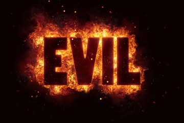 evil Fire Satanic sign gothic style evil esoteric
