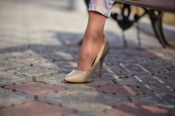 beautiful girl in shoes