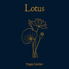 Yoga center emblem