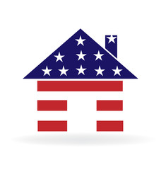 .House american USA flag logo