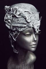Mannequin in headwear