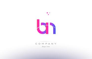 bn b n  pink modern creative alphabet letter logo icon template