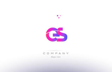 es e s  pink modern creative alphabet letter logo icon template