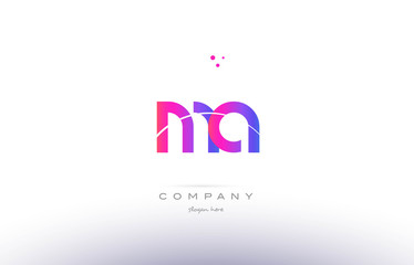 ma m a  pink modern creative alphabet letter logo icon template